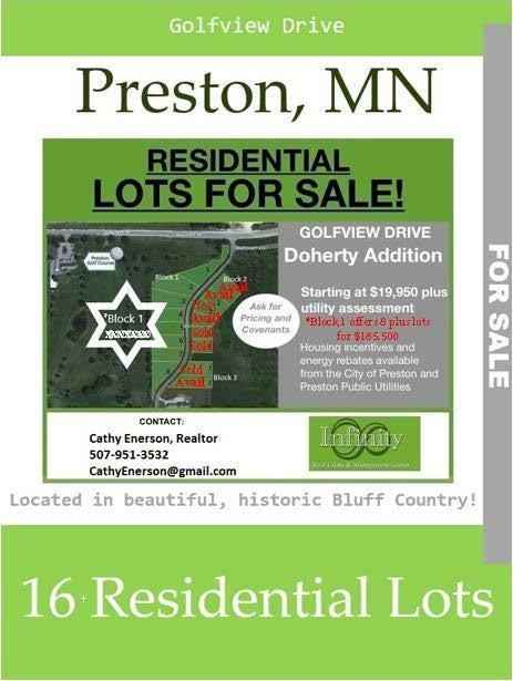 View 1 photos of this _0 bed, _0 bath, and  sqft. land home located at Golfview Dr, Preston, Minnesota 55965 is Active for $185,500.